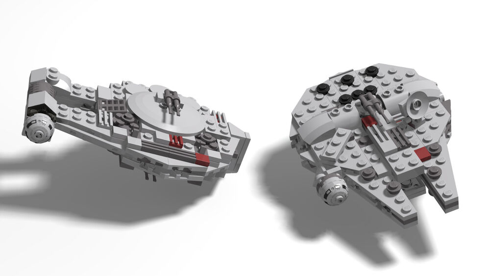 Lego Star Wars Midi Millenium Falcon And Outrider Instructions Only