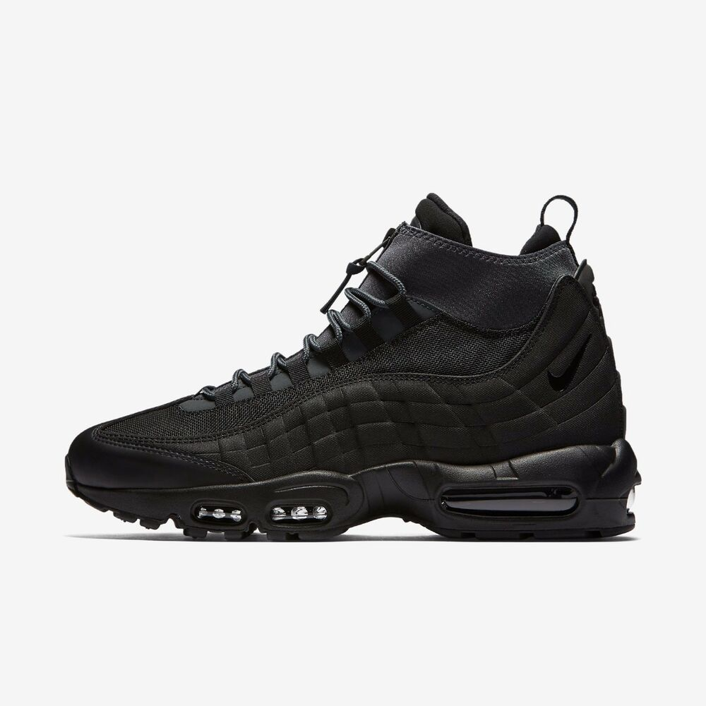 a021b67f3bc Details about NIKE AIR MAX 95 SNEAKERBOOT 806809-001 BLACK BLACK ANTHRACITE  WHITE