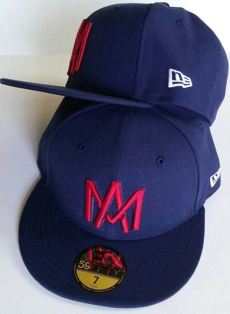 AGUILAS DE MEXICALI MEXICO BASEBALL NEW ERA 59 FIFTY FITTED DARK NAVY 7bb045b367d