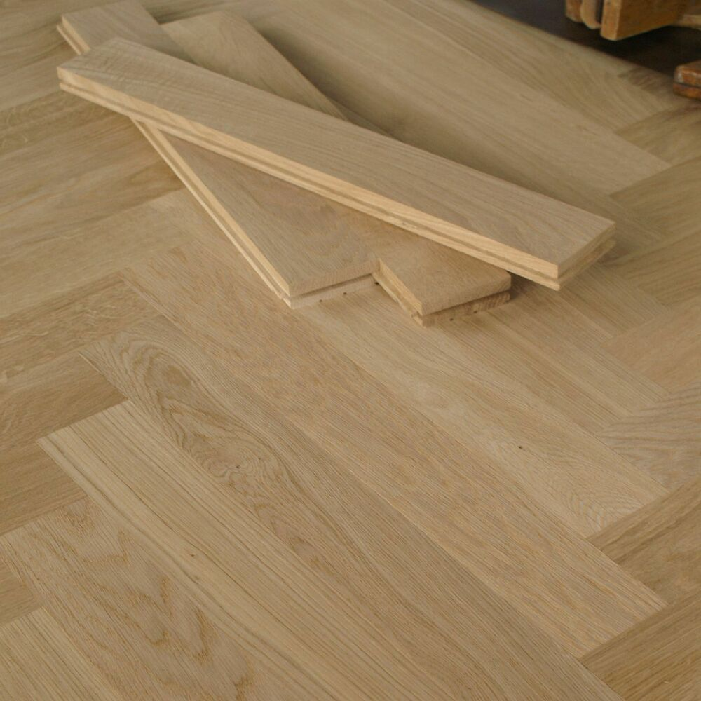 20 Long Herringbone Parquet Flooring Blocks Prime Grade Unfinished Hs50