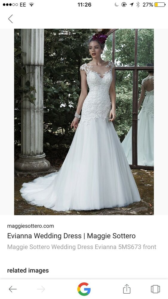 Brand New with tags Maggie Sottero Evianna wedding dress size 10 | eBay
