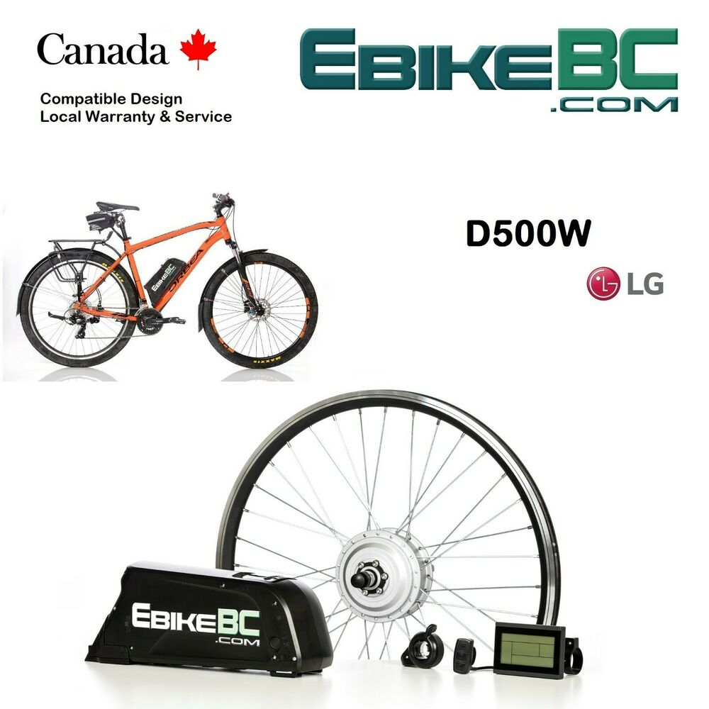 Electric Bicycle Motor Kit With Battery In India: 500W Legal Electric Bicycle E Bike Conversion Kit Hub