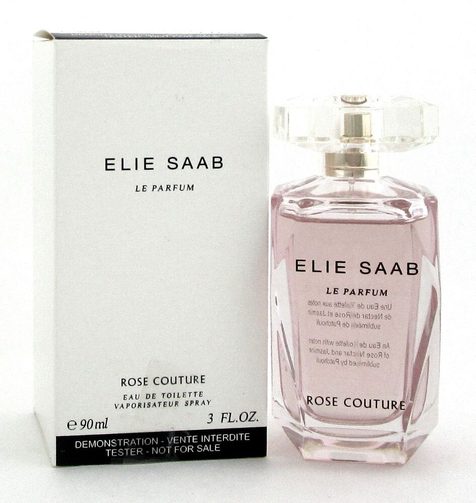Rose Couture By Elie Saab Le Parfum 30oz 90ml Edt Spray For Women New Tester 3423473991564 Ebay