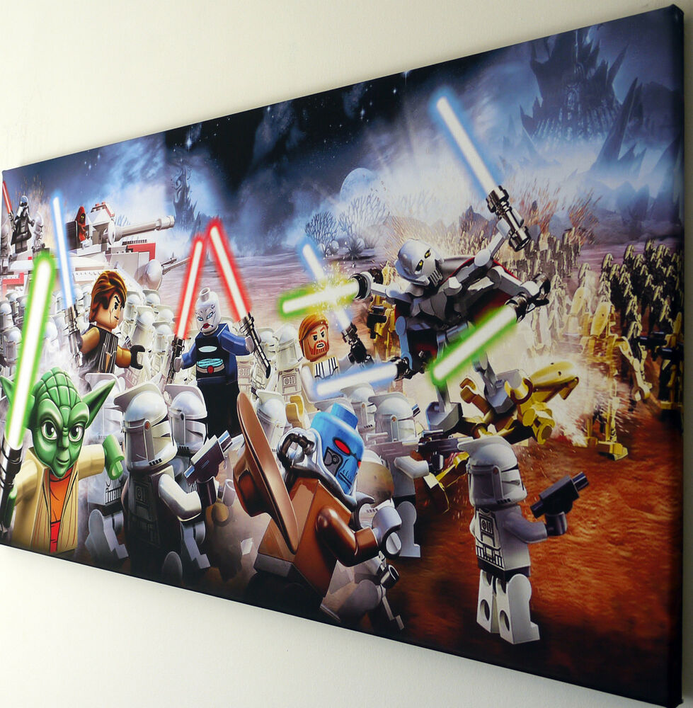 lego star wars canvas | ebay