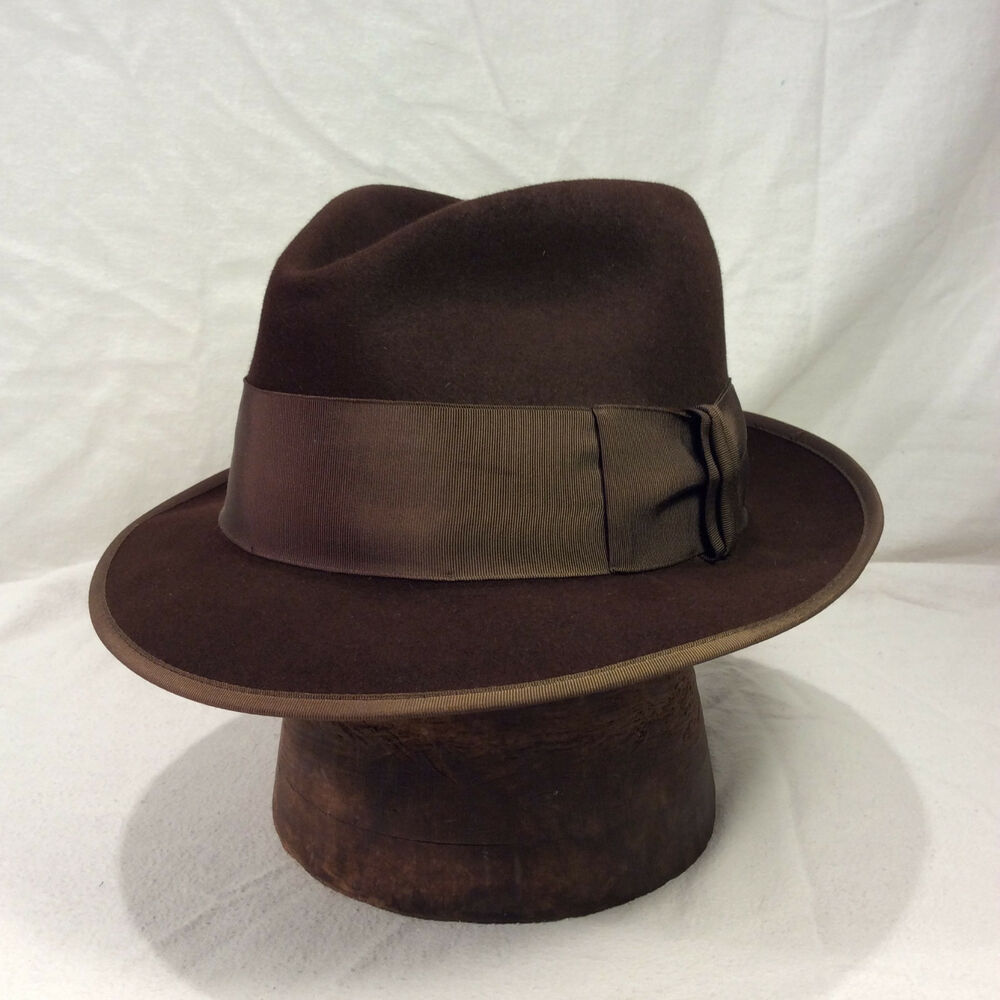 Details about Chocolate Brown Emerson Fedora Men s Hat with Light Chocolate  Brown Band eddc8d449b7
