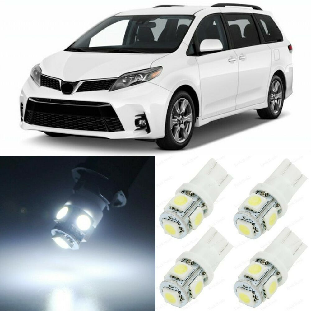 Car Led Interior Lights For 2019 Toyota Sequoia Sienna: 19 X Xenon White Interior LED Lights Package For 2011