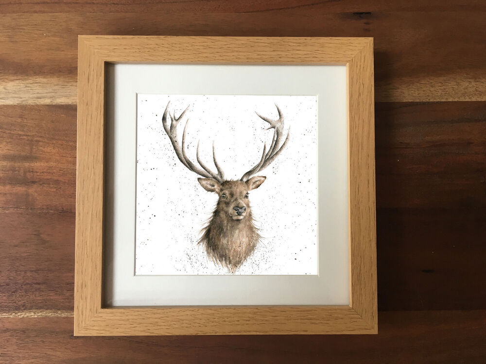 STAG COUNTRY PHOTO FRAME PICTURE ANIMAL WILDLIFE PRINT BRITISH GIFT ...
