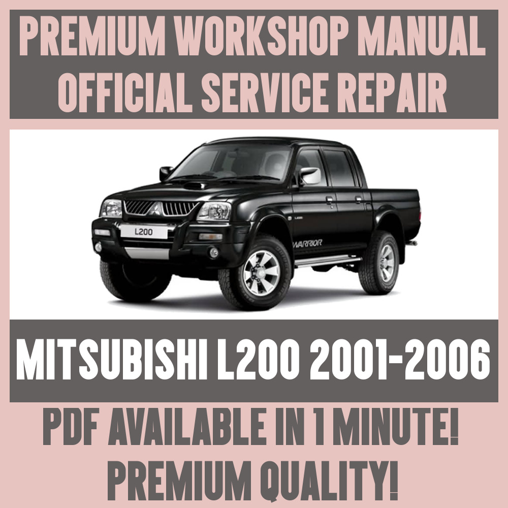 *WORKSHOP MANUAL SERVICE & REPAIR GUIDE for MITSUBISHI L200 2001-2005 | eBay