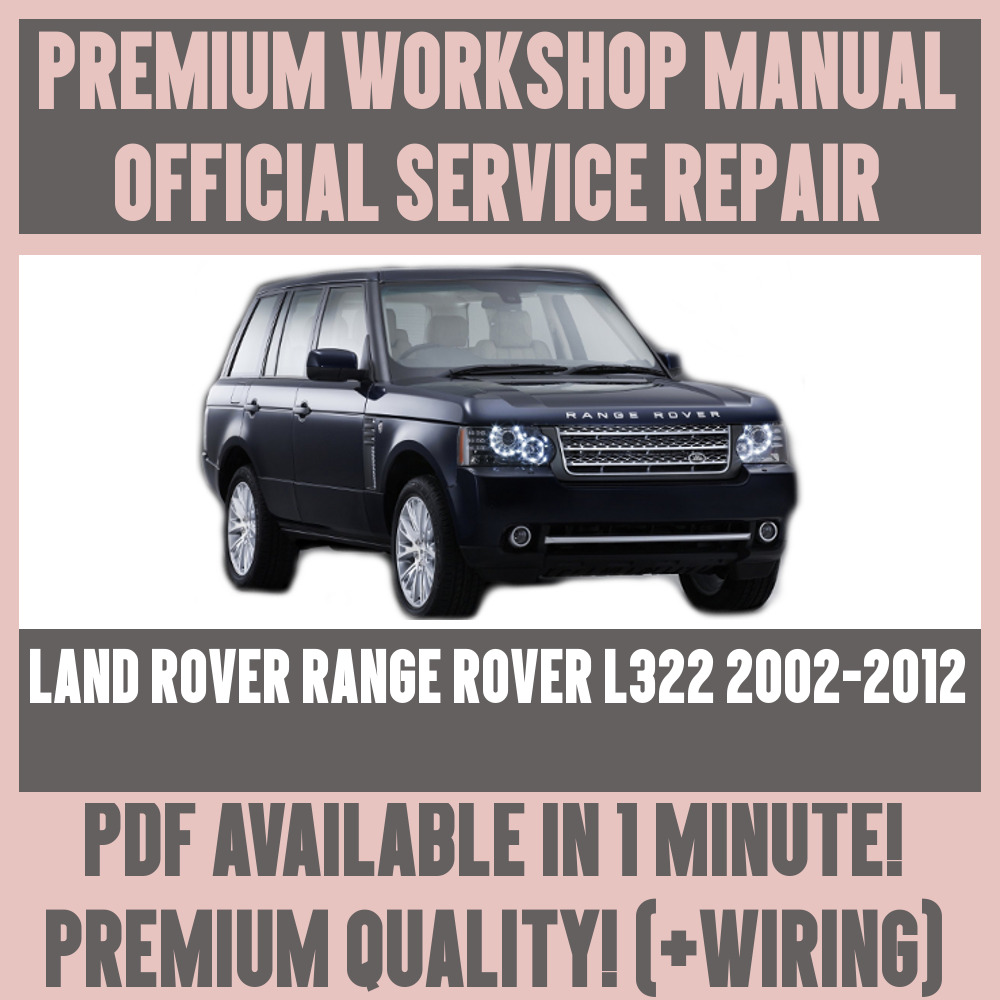 *WORKSHOP MANUAL SERVICE & REPAIR for LAND ROVER RANGE ROVER L322 2002-2012  7625694613188 | eBay