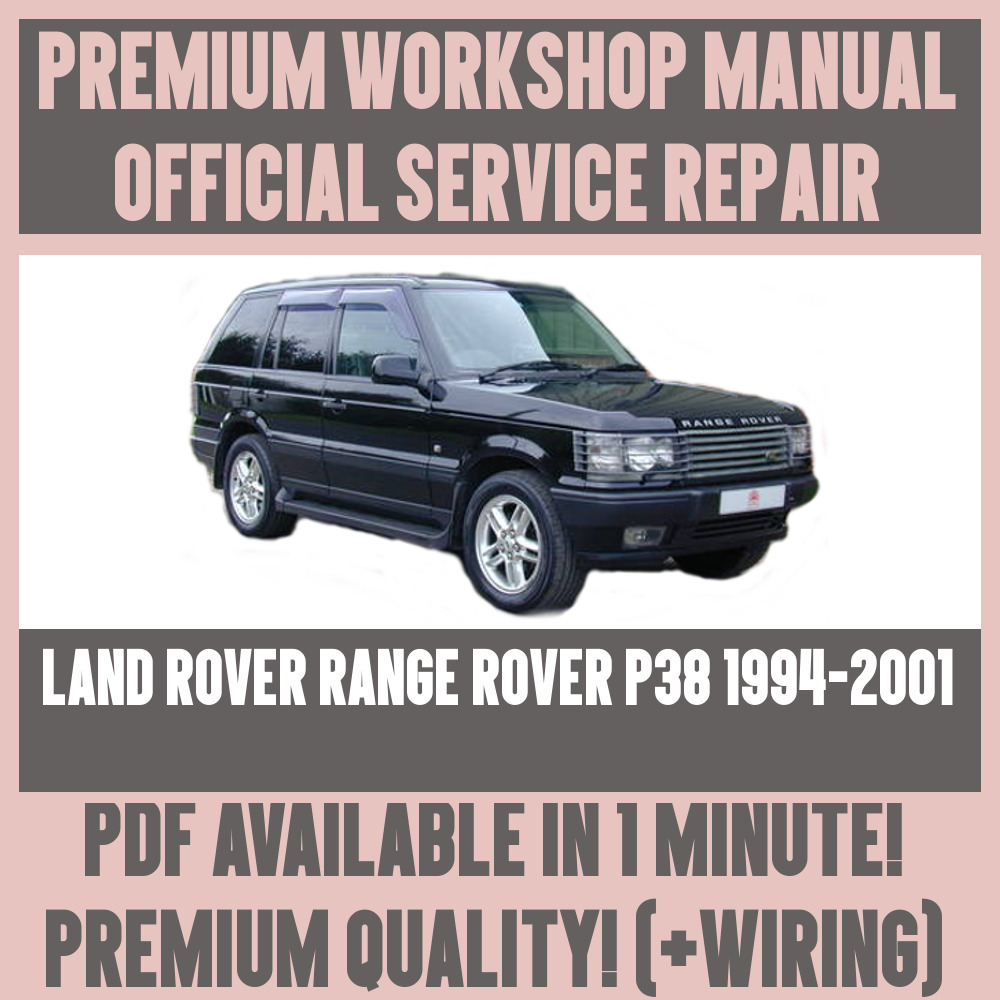 *WORKSHOP MANUAL SERVICE & REPAIR GUIDE for LAND ROVER RANGE ROVER P38  1994-2001 | eBay