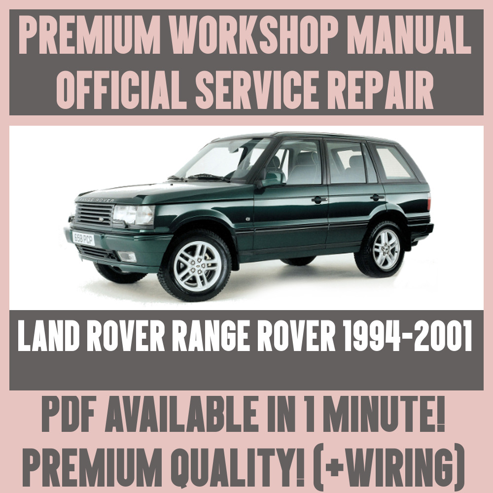 *WORKSHOP MANUAL SERVICE & REPAIR GUIDE for LAND ROVER RANGE ROVER  1994-2001 19942001 | eBay