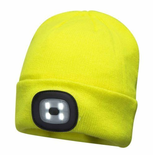 Details about Portwest LED Head Light Neon Yellow Beanie 150 Lumens Hat USB  Charge Torch 8544e637d0a