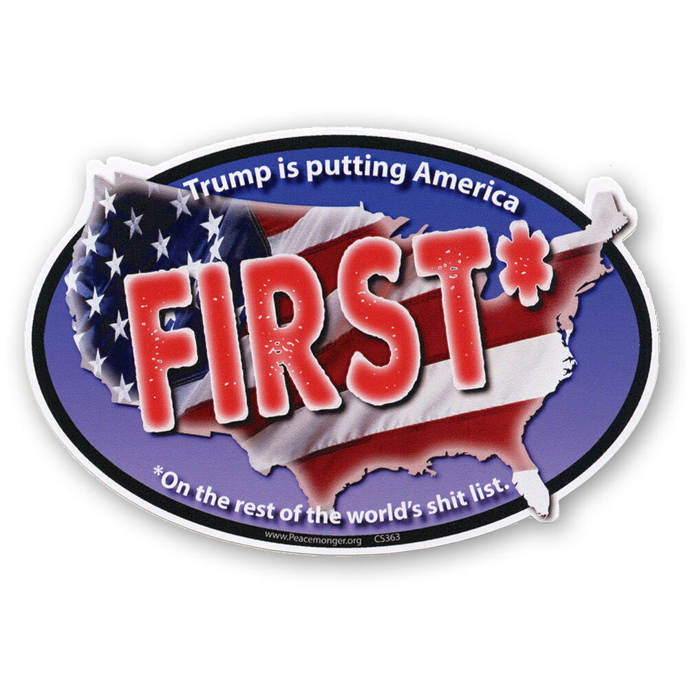 Details about cs363 mag trump putting america first no president donald trump sticker magnet