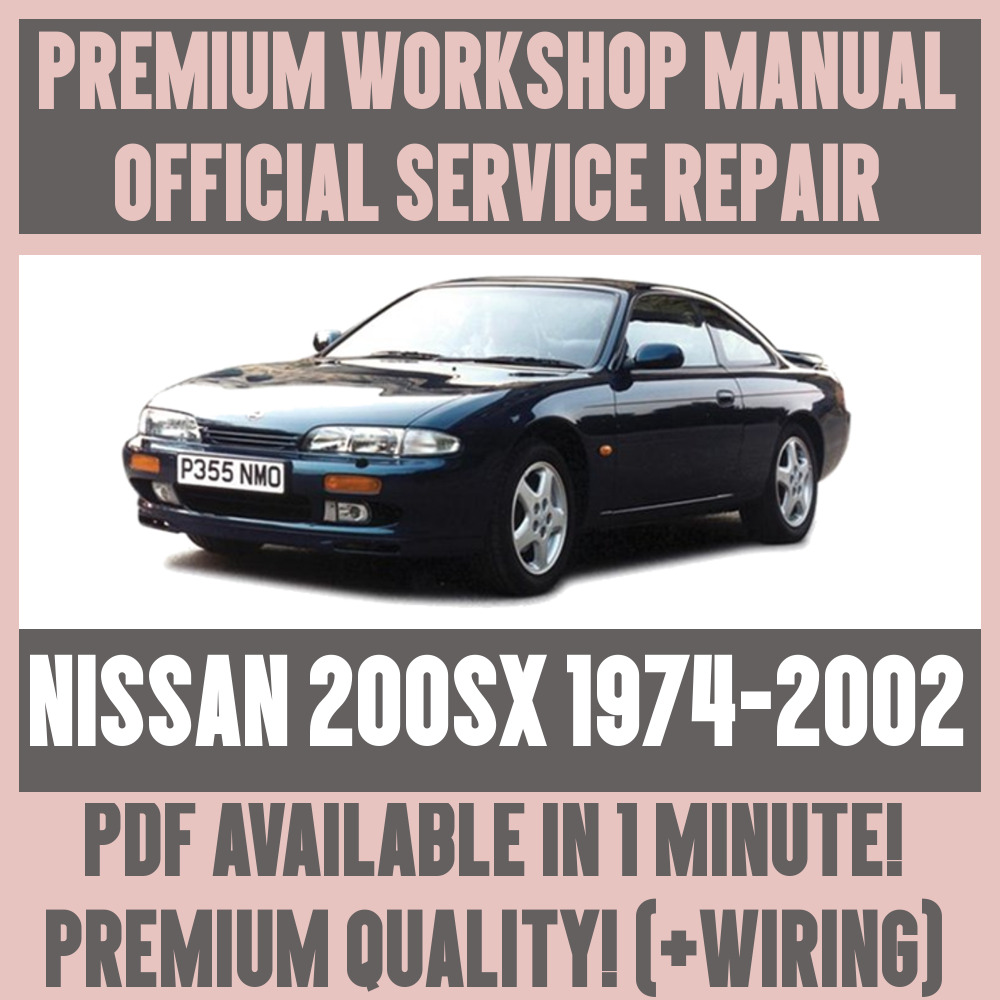 *WORKSHOP MANUAL SERVICE & REPAIR GUIDE for NISSAN 200SX 1974-2002 +WIRING  | eBay