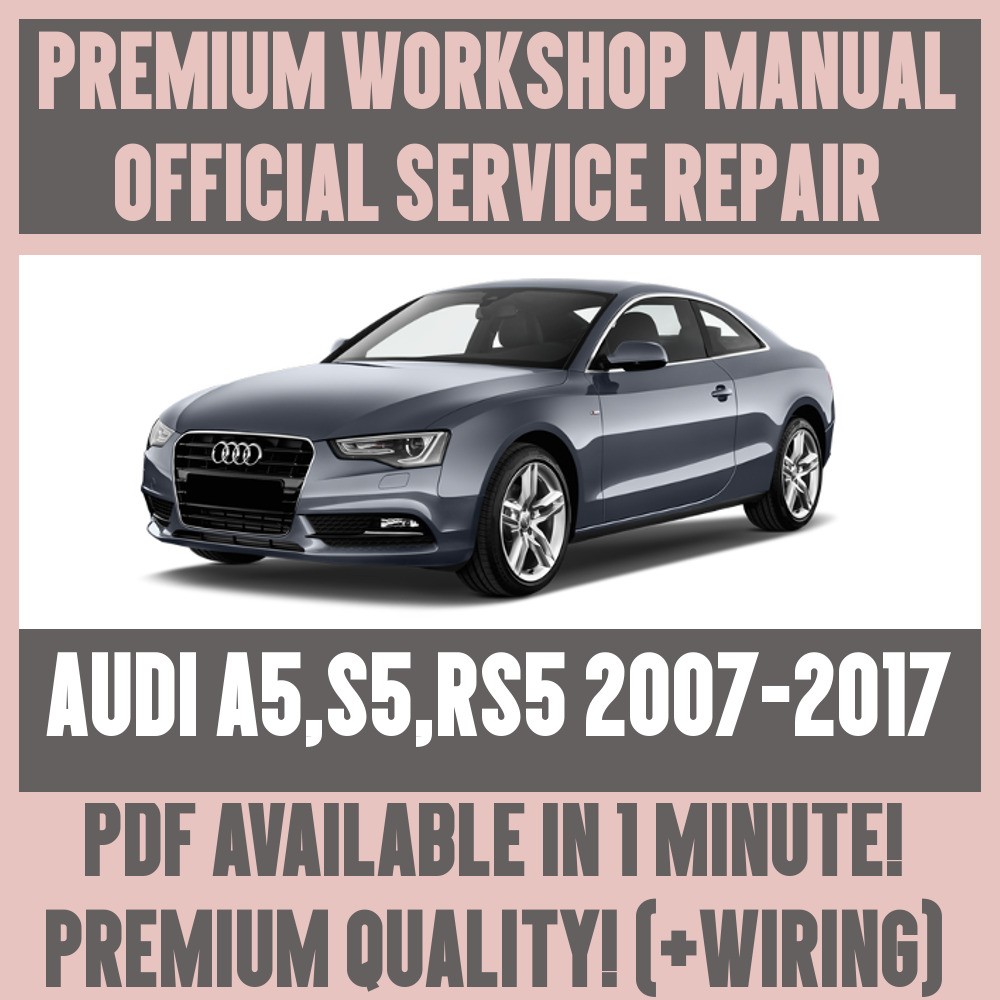 Workshop Manual Service Repair Guide For Audi A5 S5 Rs5 2007 2017 Coupe Wiring Diagram Ebay