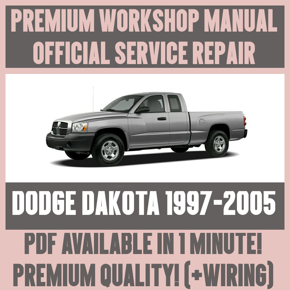 *WORKSHOP MANUAL SERVICE & REPAIR GUIDE for DODGE DAKOTA 1997-2005 +WIRING  | eBay