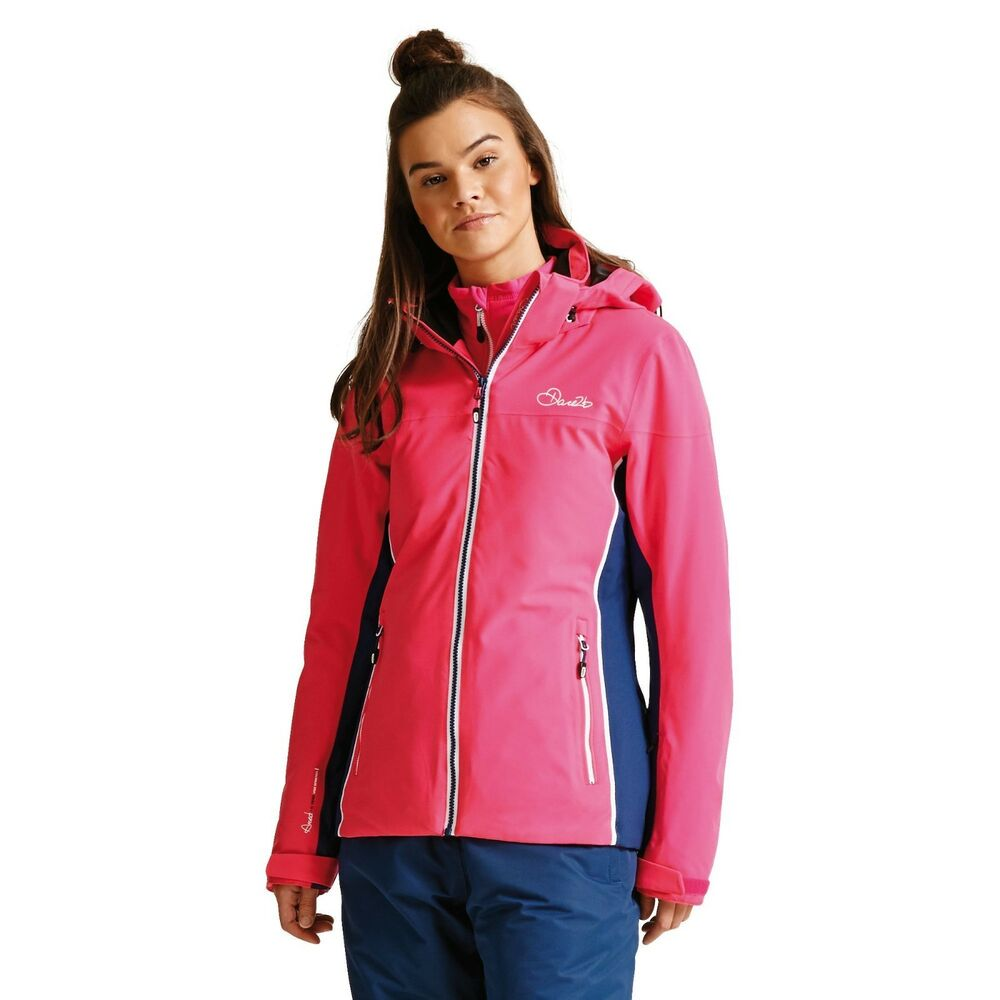 3ffcd38ec9 Details about Dare2b Womens INVOKE II CYBER PINK Ski Jacket Ladies