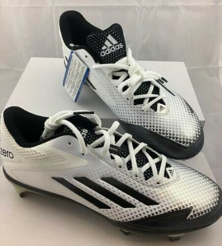 184668f5f56f Mens Adidas Adizero Afterburner 2.0 Metal Baseball Cleats White Black  S85704