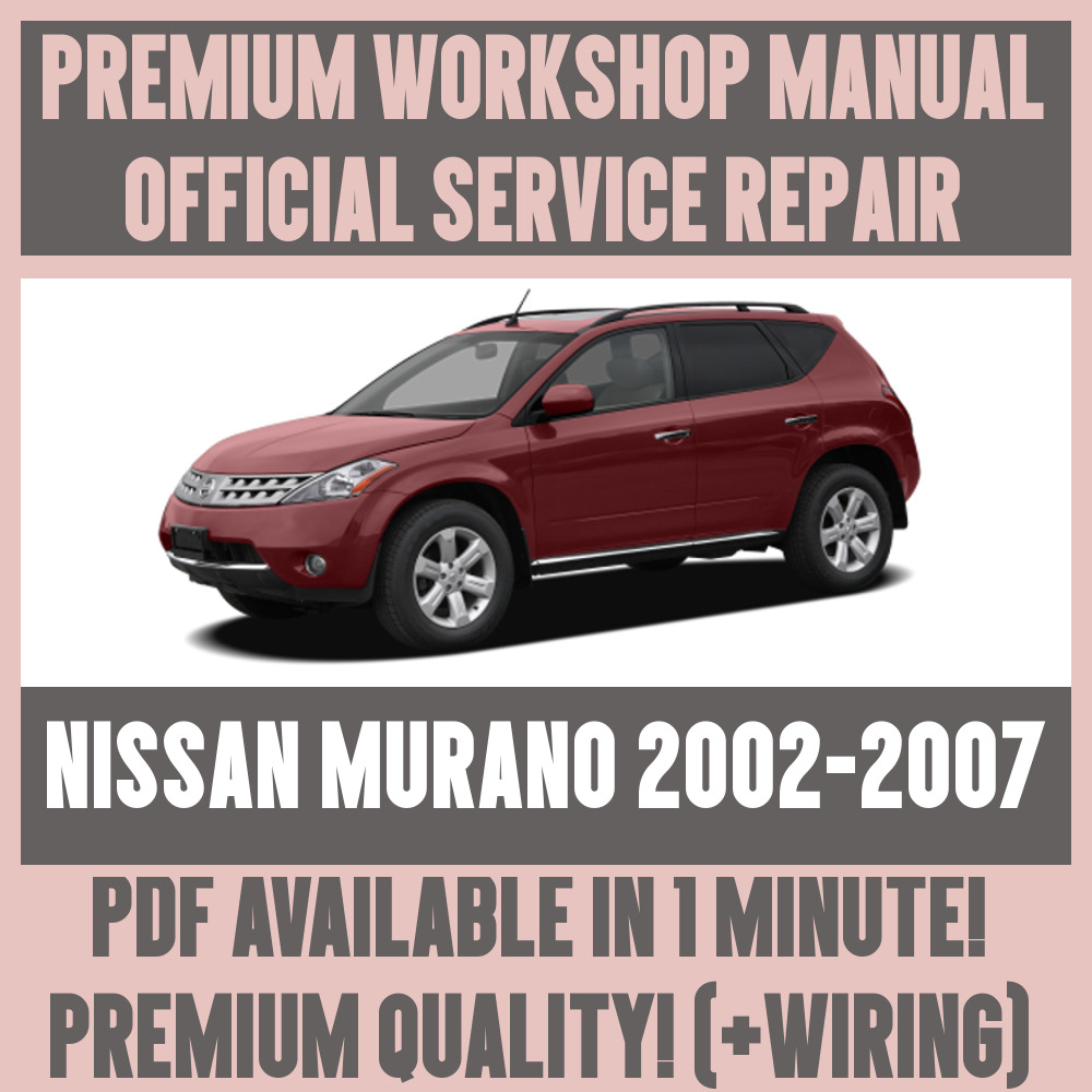 Car 2007 Nissan Murano Manual Simple Instruction Guide Books Fuse Box Workshop Service Repair For 2002 Rh Ebay Co Uk