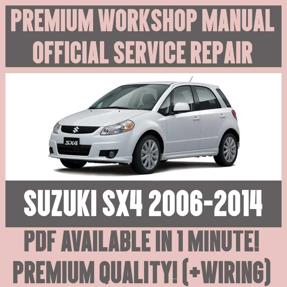 workshop manual service repair guide for suzuki sx4 2006 2014 rh ebay co uk suzuki sx4 service manual free download suzuki sx4 service manual pdf