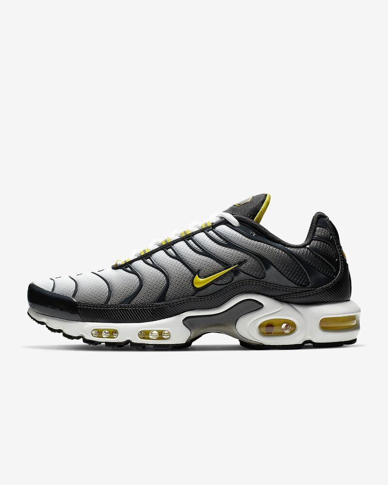 00424bedba NIKE AIR MAX PLUS TN CI2299-002 ANTHRACITE WHITE METALLIC SILVER OPTI YELLOW  | eBay
