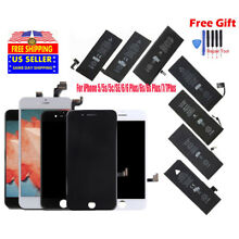 LCD Screen Digitizer Assembly & Battery Replacement for iPhone 6s 5 6 6S 7P