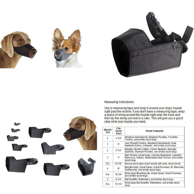 """X-small Quick Fit Dog Muzzle, Size 0, Fit Snout Size 4 1/2"""", By Downtown Pet Sup"""