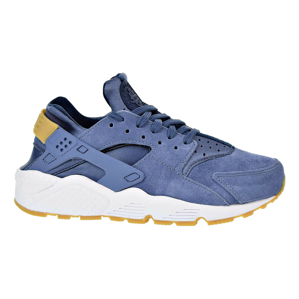 366b3c91894 Details about Nike Air Huarache Run Suede Womens Shoes Diffused Blue AA0524- 400