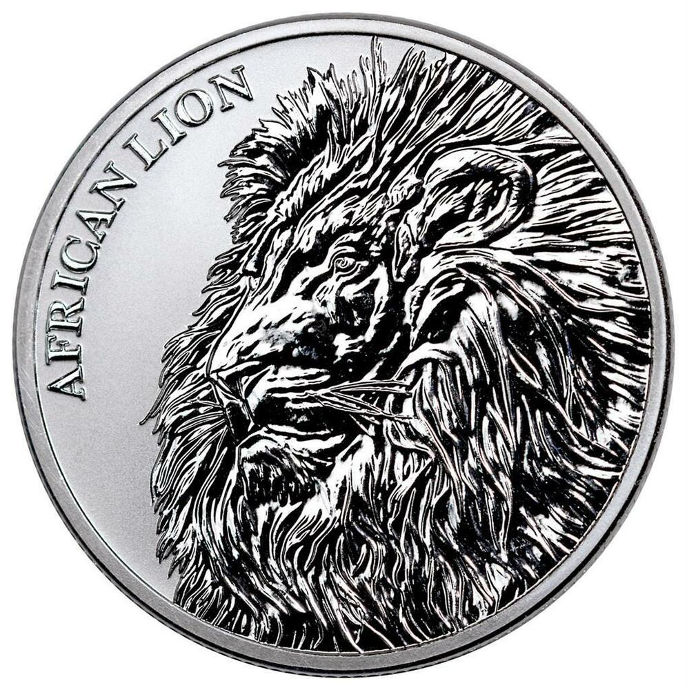 Chad 5000 Francs 2018 African Lionafrican Lion 1 Oz Silver St