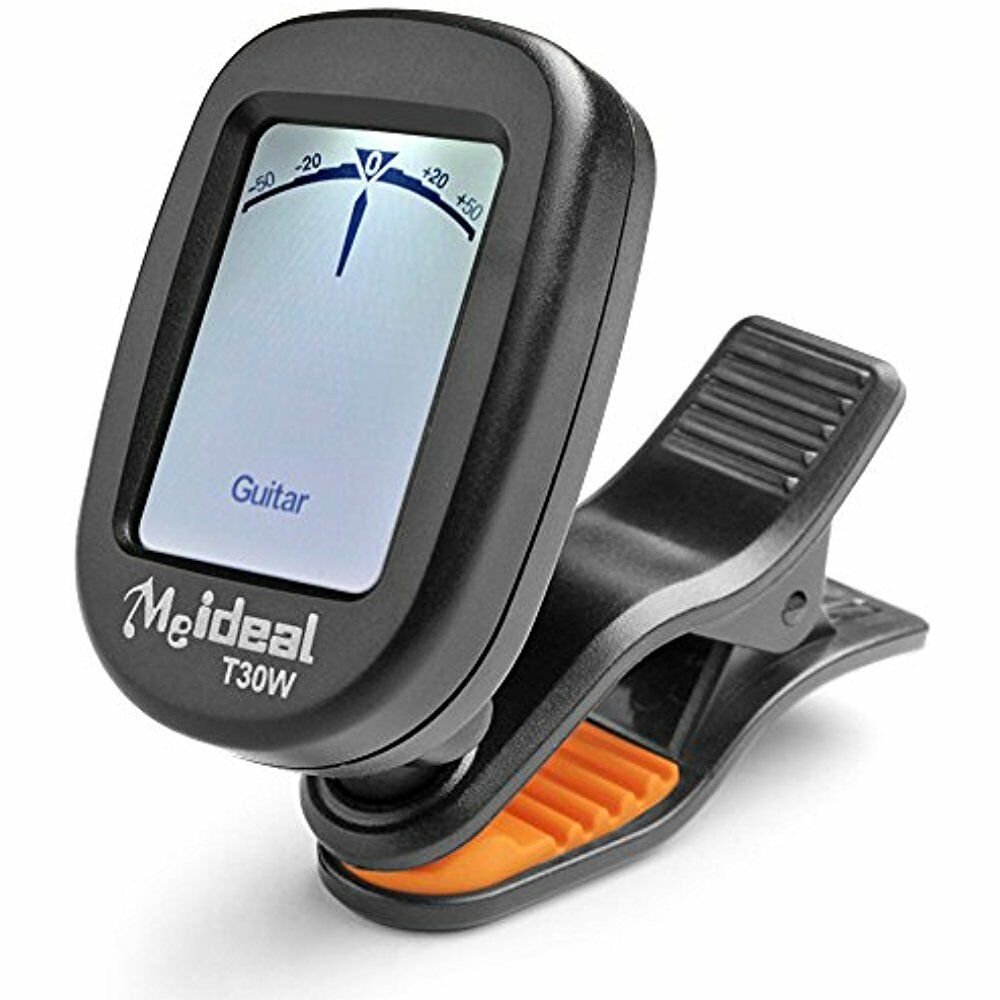 guitar tuner clip on rotatable portable tuning digital chromatic electronic bass ebay. Black Bedroom Furniture Sets. Home Design Ideas