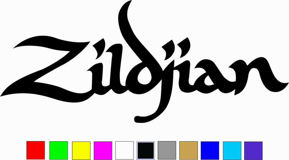 Zildjian logo vinyl decal die cut sticker ebay