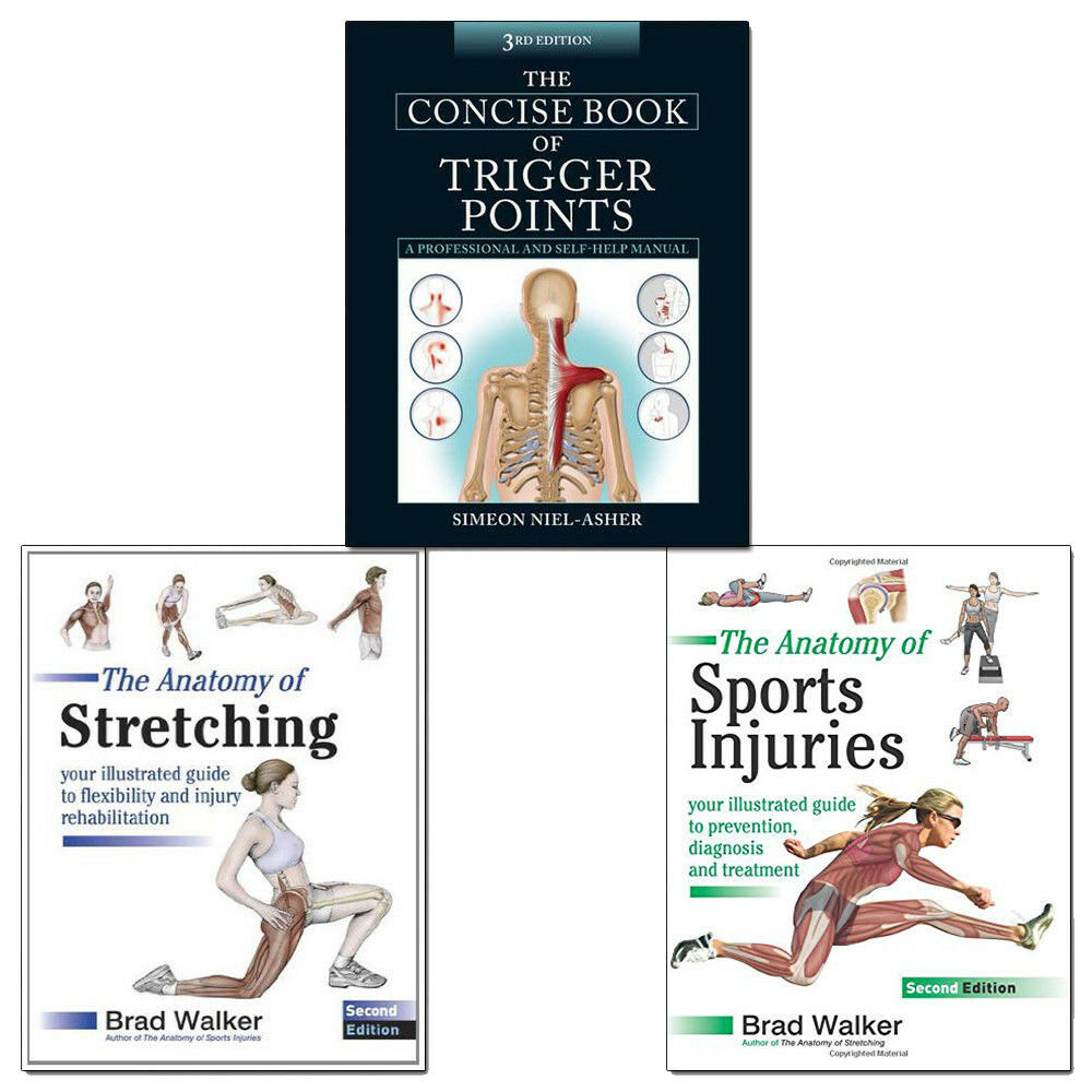 Anatomy of Sports Injuries,Anatomy of Stretching 3 Books Collection ...