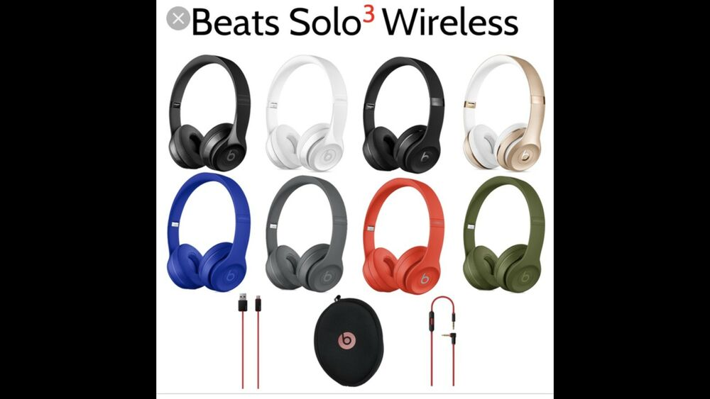 7bccca0e013 Details about Beats by Dr. Dre Solo3 Wireless Headband Headphones - all  colors