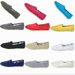 Classics Soft Casual Women Girl Casual Ventilation Canvas Slip-on Loafers Shoes