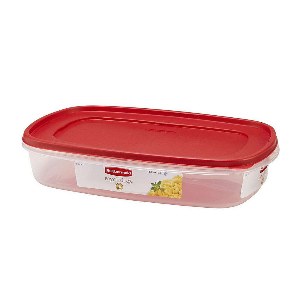 Rubbermaid Plastic Easy Find Lid Food Storage Container 1