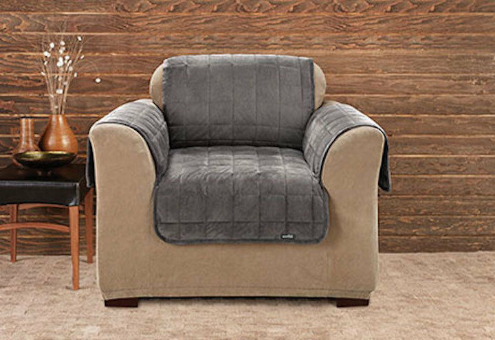 Sure Fit Deluxe Chair Furniture Cover (with Arms) Non-Slip