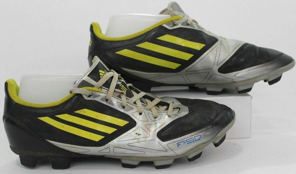 5fb0a13d9f6 Details about ADIDAS F50 ADIZERO LEATHER TRX FG MESSI SOCCER CLEATS BLACK LIME SILVER  MENS 7