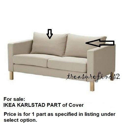 Part Ikea KARLSTAD Loveseat Sofa Cover Sivik Beige PARTS
