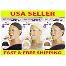 Stocking Wig Cap 2 Pcs Black Brown Natural Beige Nude Liner Weave Nylon Weaving