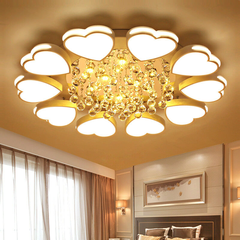 Dimmer LED Heart Model Light Crystal Ceiling Lamp Acrylic