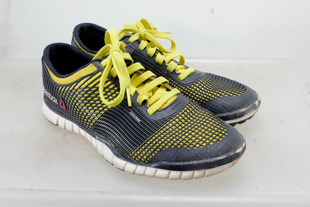 1bd95a56bfd6b8 Details about Reebok Men s Size 8.5 Running Hiking Walking Z Rated Blue    Yellow Nanoweb Shoes
