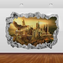 Harry Potter Hogwarts Castle Alley 3D Smashed Wall Sticker Poster Decal Art 821