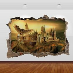 Harry Potter Hogwarts Castle Alley 3D Smashed Wall Sticker Poster Decal Art 824