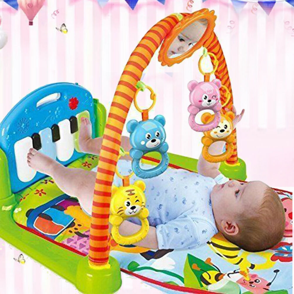 4-in-1 Baby Gym Floor Play Mat Musical Activity Center