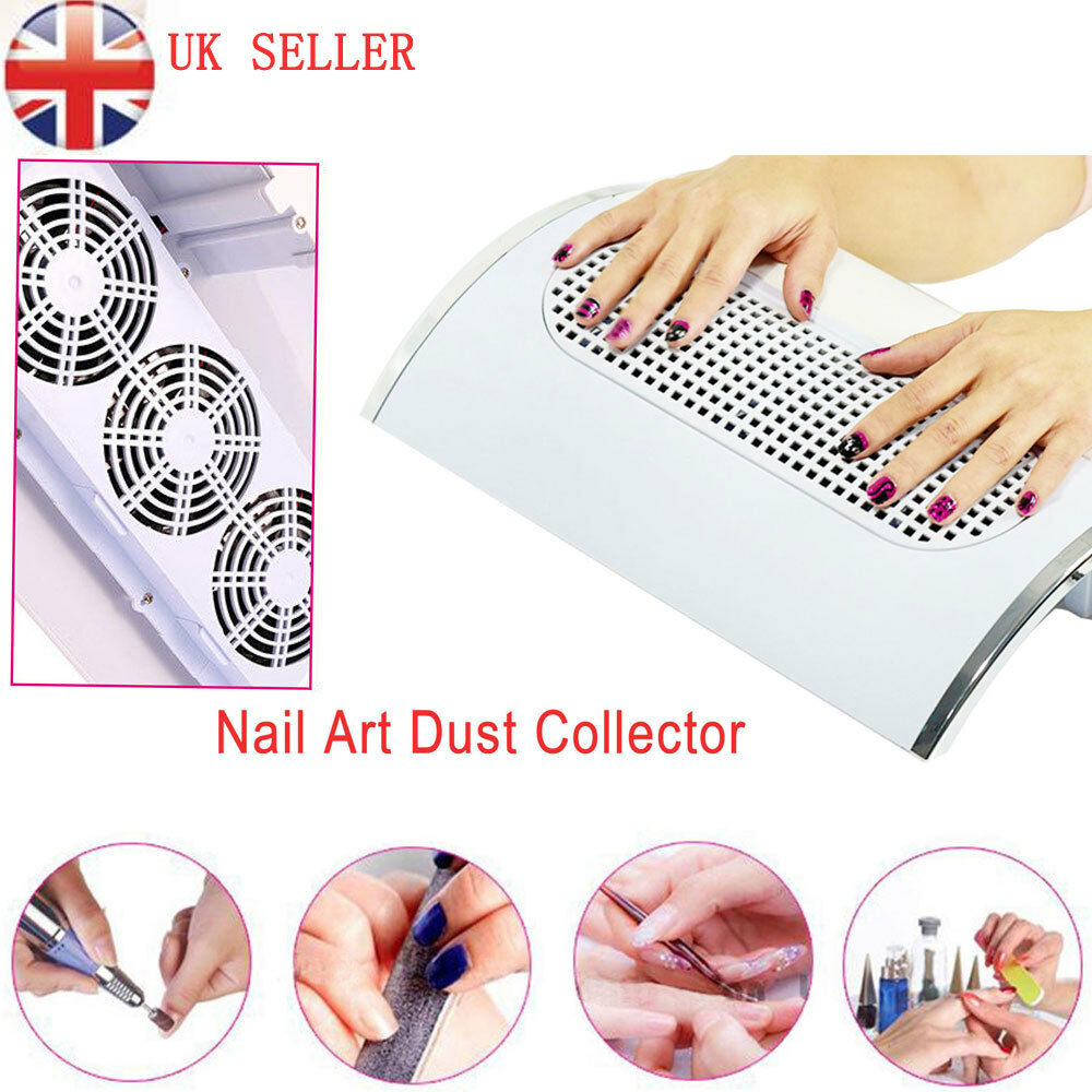 220V Nail Art Dust Suction Collector 3 Fans Vacuum Cleaner Manicure ...