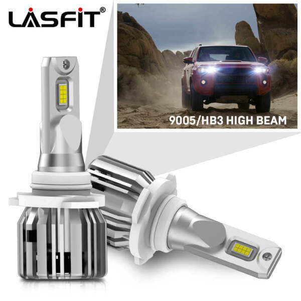 LASFIT 9005 HB3 LED Headlight for Toyota 4Runner 2003-2018 Camry 2000-2017 Pair
