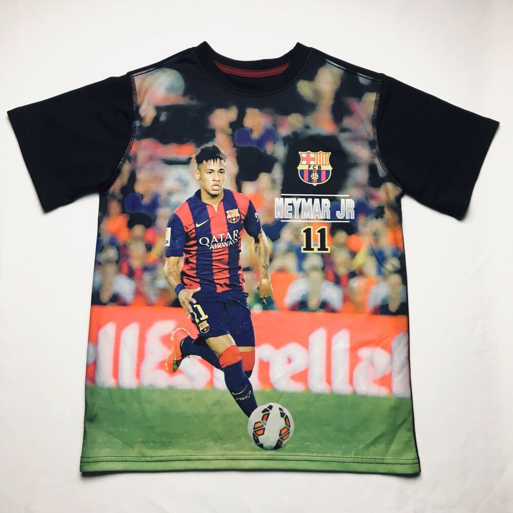 d3c8fb21ddf Details about FC Barcelona FCB Fitted Shirt Men s Size Large  11 Neymar JR