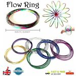 FLOW RING Bracelet Toys Magic Kinetic Spring Infinity Arm Slinky Juggle Dance B3