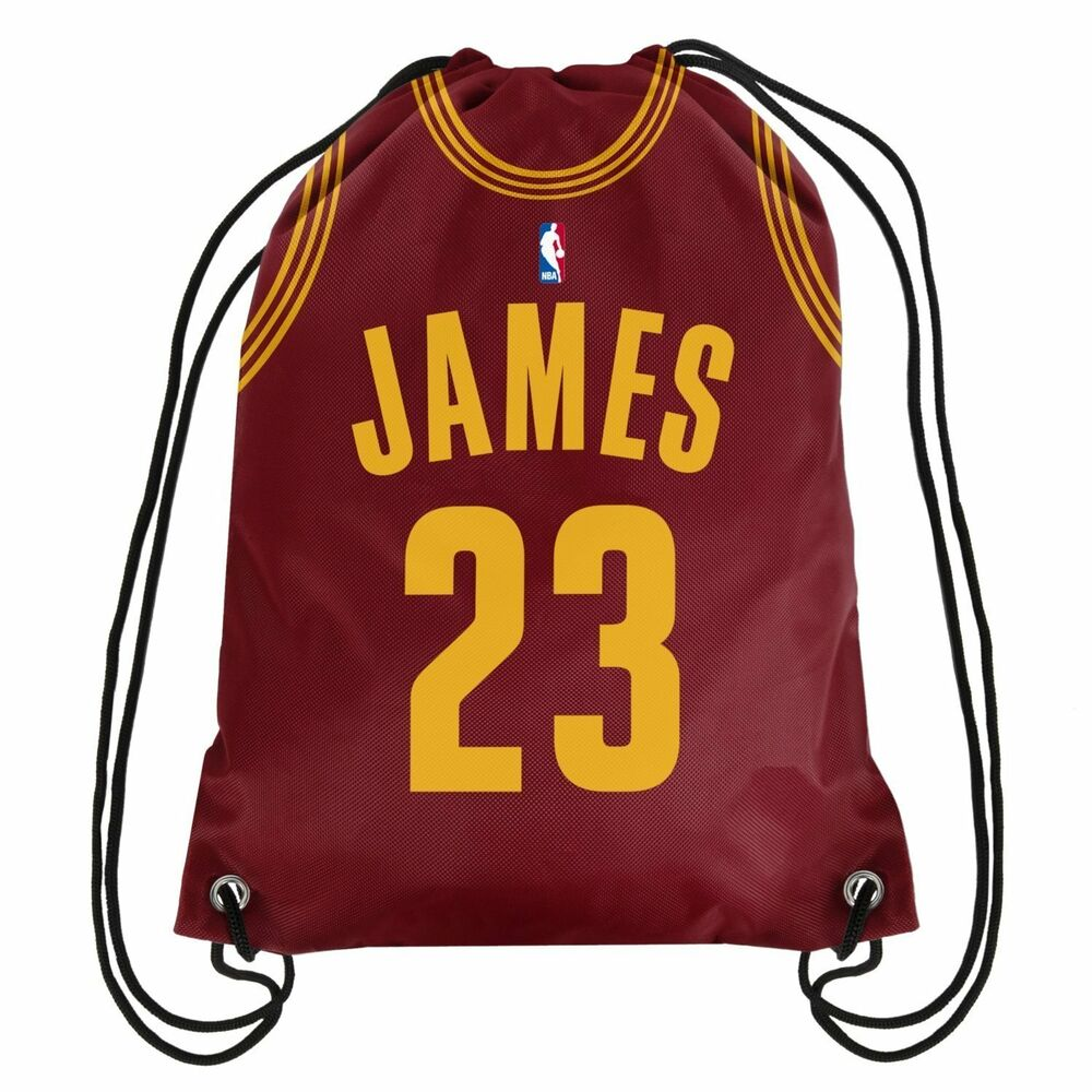 6ddad5aa3c23 Details about Official NBA Cleveland Cavaliers Lebron James  23 Drawstring  Gym Backpack