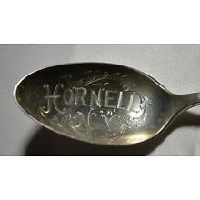 Vintage HORNELL NY STERLING SILVER Souvenir Spoon Free Shipping